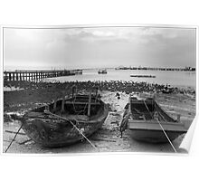 Fishing Boats Thailand Poster