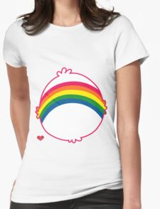 Rainbow CareBear Womens Fitted T-Shirt