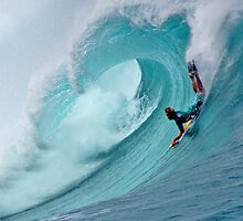 Waimea Bodyboarder by kevin smith  skystudiohawaii
