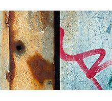 Graffiti and Rust  Photographic Print