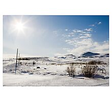 The End of the Line, Mosfellsbær (Iceland) Photographic Print