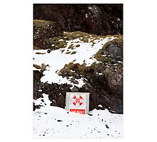 Swim Safely in the Freeze, Djupalonssandur (Iceland) Photographic Print
