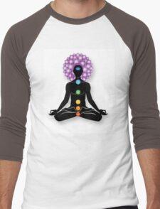 Meditation and Chakras Men's Baseball ¾ T-Shirt