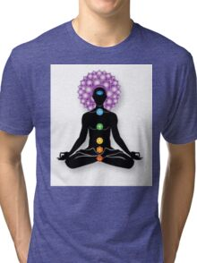 Meditation and Chakras Tri-blend T-Shirt
