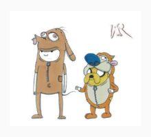 Finn and Jake Ren and Stimpy by WRTSTIK by wrtistik86