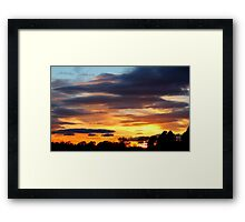 Fabulous colourful rich Sunset , Coniscliffe Grange, 9th May 2011,  Framed Print