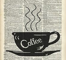 Dictionary Art Hot Coffee Cup by DictionaryArt