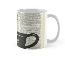 Dictionary Art Hot Coffee Cup Mug