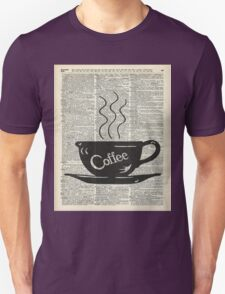 Dictionary Art Hot Coffee Cup T-Shirt