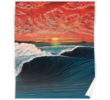 SUNSET SAILING IN INDONESIA Poster