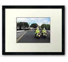 Waiting for the Queen, Dublin, 2011 Framed Print