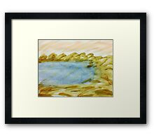 The Cove in Abstract Series #1, watercolor Framed Print