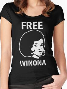 FREE WINONA Ryder DEPP Women's Fitted Scoop T-Shirt