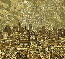 Austin texas skyline abstract 1 by BekimART