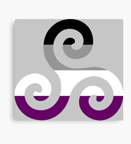 Asexual Pride Teen Wolf Triskelion Canvas Print
