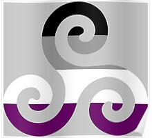 Asexual Pride Teen Wolf Triskelion Poster