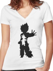 Goku - The Hero Women's Fitted V-Neck T-Shirt