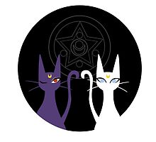 Luna and Artemis - Black by gracekansai