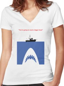 You're going to need a bigger boat Women's Fitted V-Neck T-Shirt