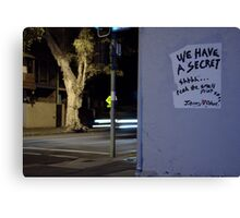 Street Corner Secret Canvas Print