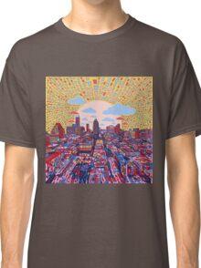 Austin texas skyline abstract 3 Classic T-Shirt