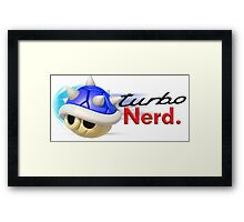 Turbo Nerd Framed Print