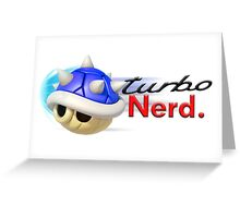 Turbo Nerd Greeting Card