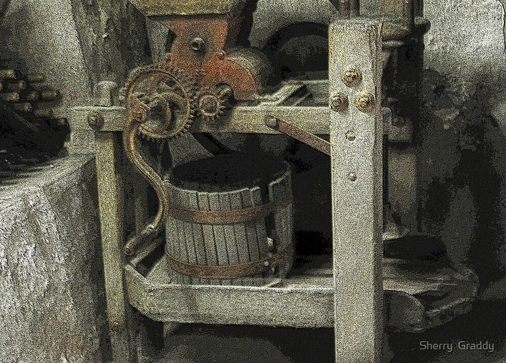 Antique Winemaking Press Hermann, MO by Sherry  Graddy