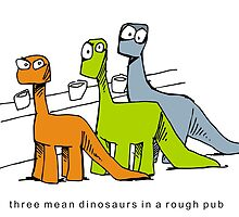 dinosaurs' night out by Matt Mawson