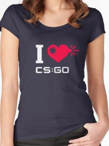 I <3 CSGO Women's Fitted Scoop T-Shirt