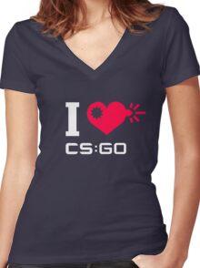 I <3 CSGO Women's Fitted V-Neck T-Shirt