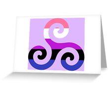 Genderfluid Pride Teen Wolf Triskelion Greeting Card