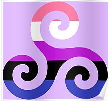 Genderfluid Pride Teen Wolf Triskelion Poster