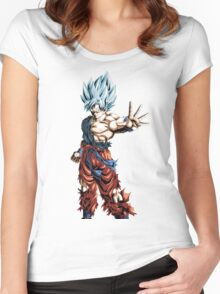 Super Saiyan God Super Saiyan Goku Women's Fitted Scoop T-Shirt