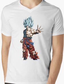 Super Saiyan God Super Saiyan Goku Mens V-Neck T-Shirt