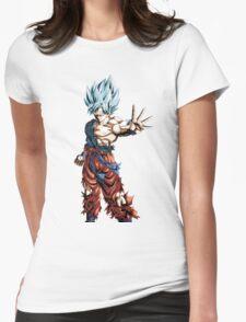Super Saiyan God Super Saiyan Goku Womens Fitted T-Shirt