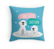 Polar Opposites Throw Pillow
