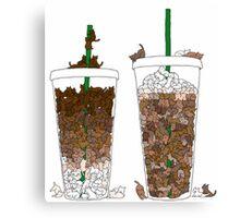 Starbucks Kittens! Canvas Print