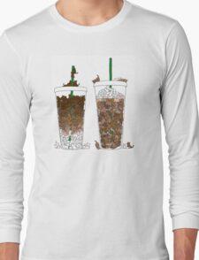 Starbucks Kittens! Long Sleeve T-Shirt