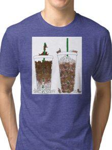 Starbucks Kittens! Tri-blend T-Shirt