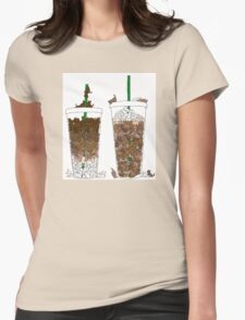 Starbucks Kittens! Womens Fitted T-Shirt