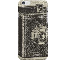 Antique Cube Camera Over Old Encyclopedia Page iPhone Case/Skin
