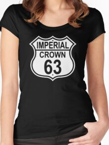 Highway Route Sign 1963 Imperial Crown  Women's Fitted Scoop T-Shirt