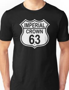 Highway Route Sign 1963 Imperial Crown  Unisex T-Shirt