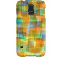 Rug Out Of Orange, Blue And Green Squares Samsung Galaxy Case/Skin