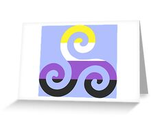 Nonbinary Pride Teen Wolf Triskelion Greeting Card