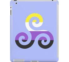 Nonbinary Pride Teen Wolf Triskelion iPad Case/Skin