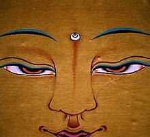 detail. tibetan painting, india by tim buckley | bodhiimages