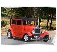 1929 Ford 'Model A' Sedan Poster