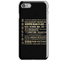 Houston Texas Famous Landmarks iPhone Case/Skin